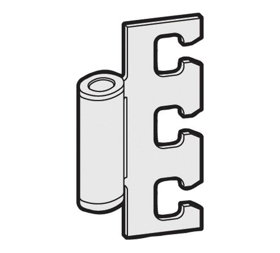 Rahmenteil für 3-tlg. Türbänder und Stahlzargen
